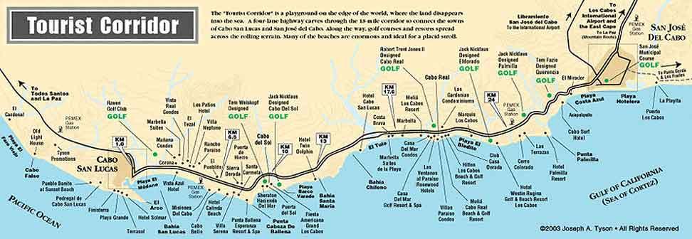 Club Cabo Inn - Cabo San Lucas Map and Activities  |Cabo San Lucas Golf Courses Map